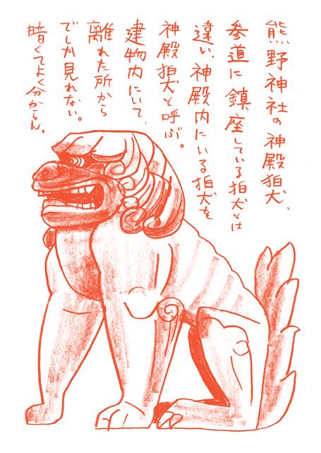 熊野神社-神殿狛犬